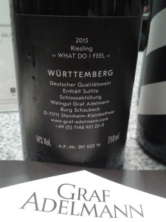 015 Riesling What do I feel, Graf Adelmann